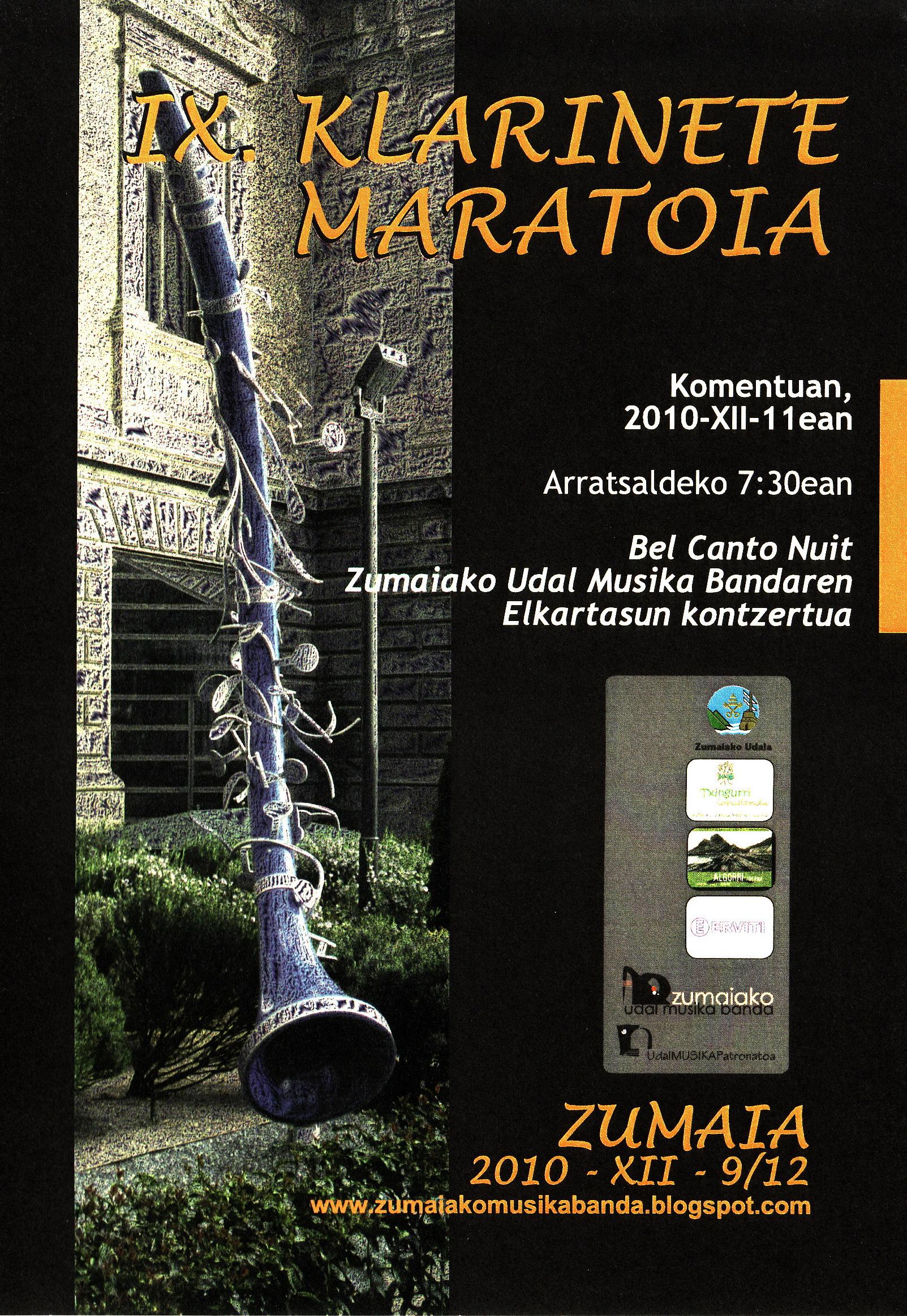 2010 IX. Klar.Mar.Bel Canto