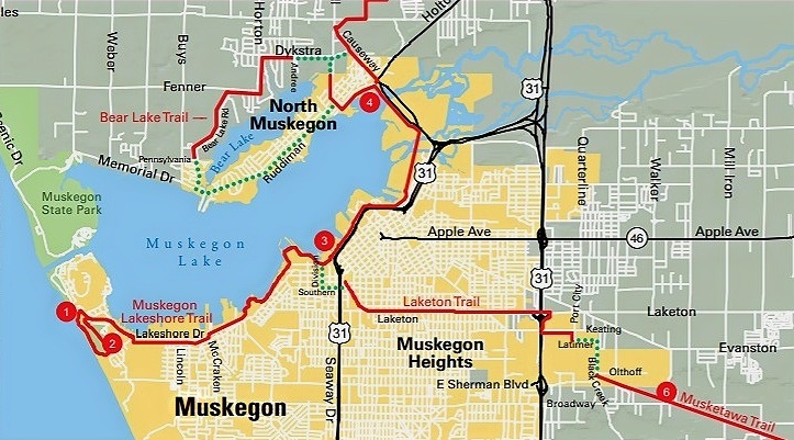 Muskegon Trail Map