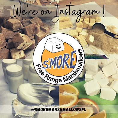 Marshmallow Factory - We're on IG White.