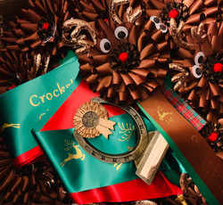 Reindeer Rosettes and christmas sash