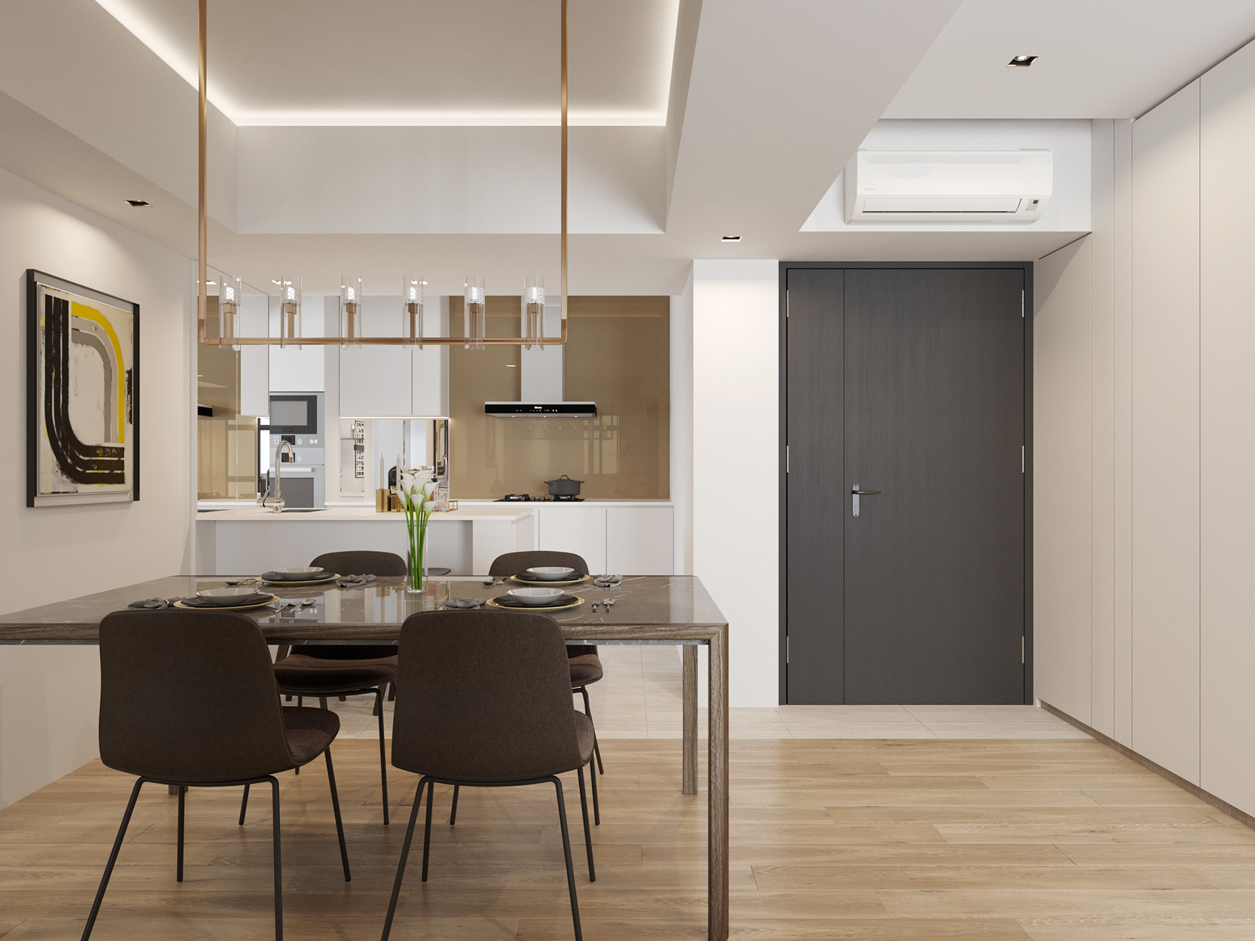 04 Dining to Kitchen