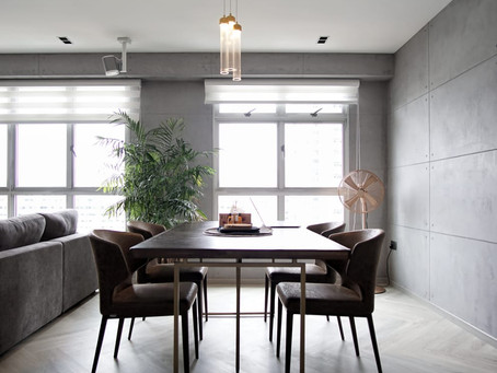 House Tour: Five-room HDB BTO in Bukit Batok with wood- and concrete-look finishes
