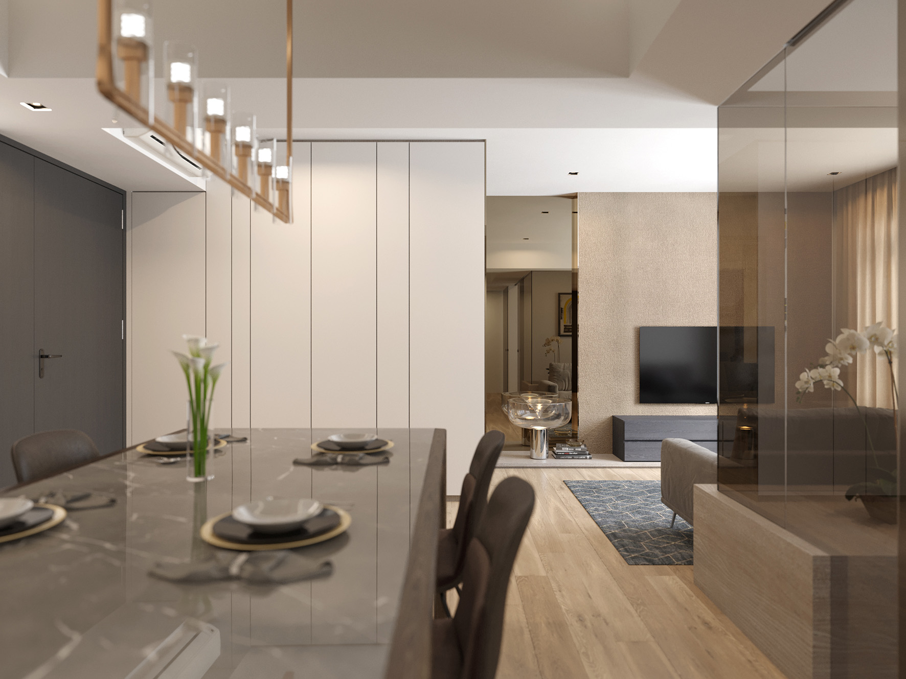02 Dining to Living