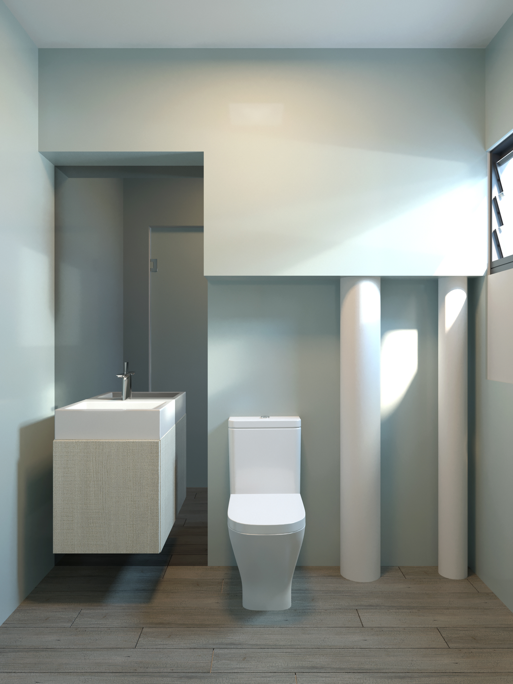 3D COMMON BATHROOM