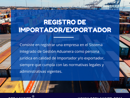 REGISTRO DE IMPORTADOR Y/O EXPORTADOR EN REP. DOMINICANA