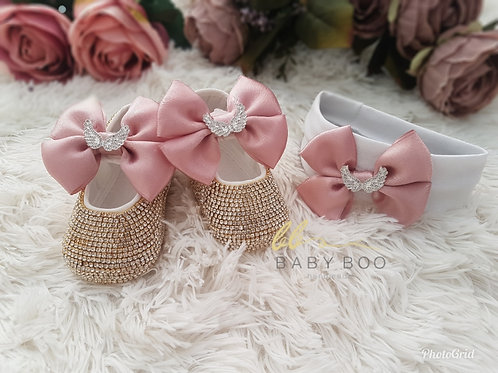 HANDMADE BABY CRYSTAL SHOES