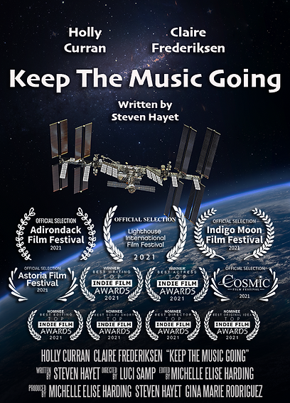 Keep the Music Going - Poster with Festival Laurels