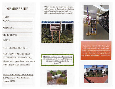Friends of the Library Brochure one side