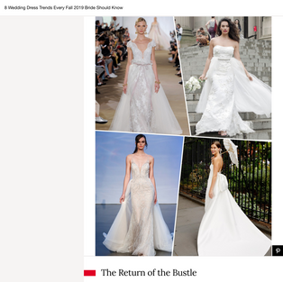 Glamour: 8 Wedding Dress Trends Every Fall 2019 Bride Should Know