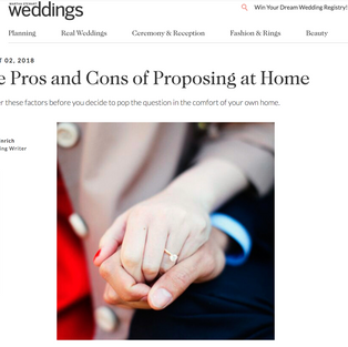 Martha Stewart Weddings: The Pros and Cons of Proposing at Home