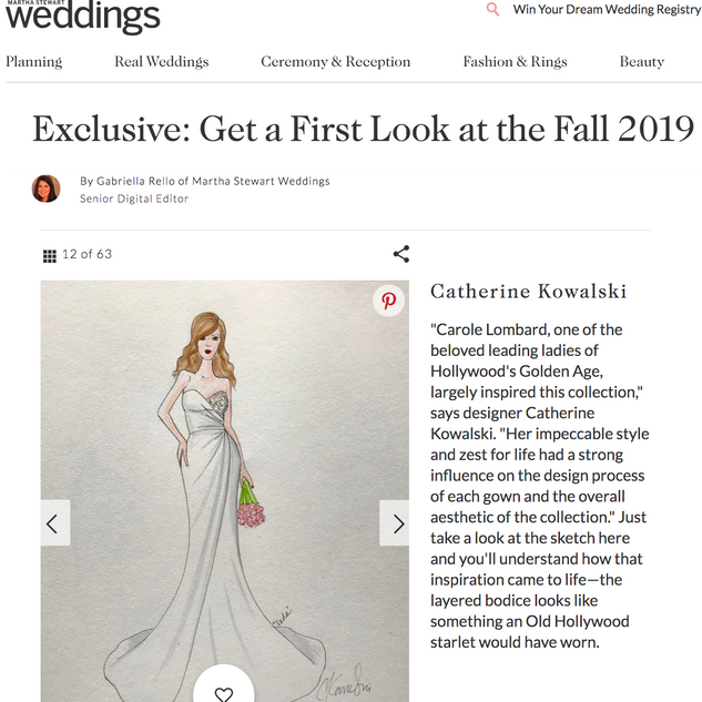 Martha Stewart Weddings: Get a First Look at the Fall 2019 Bridal Collections