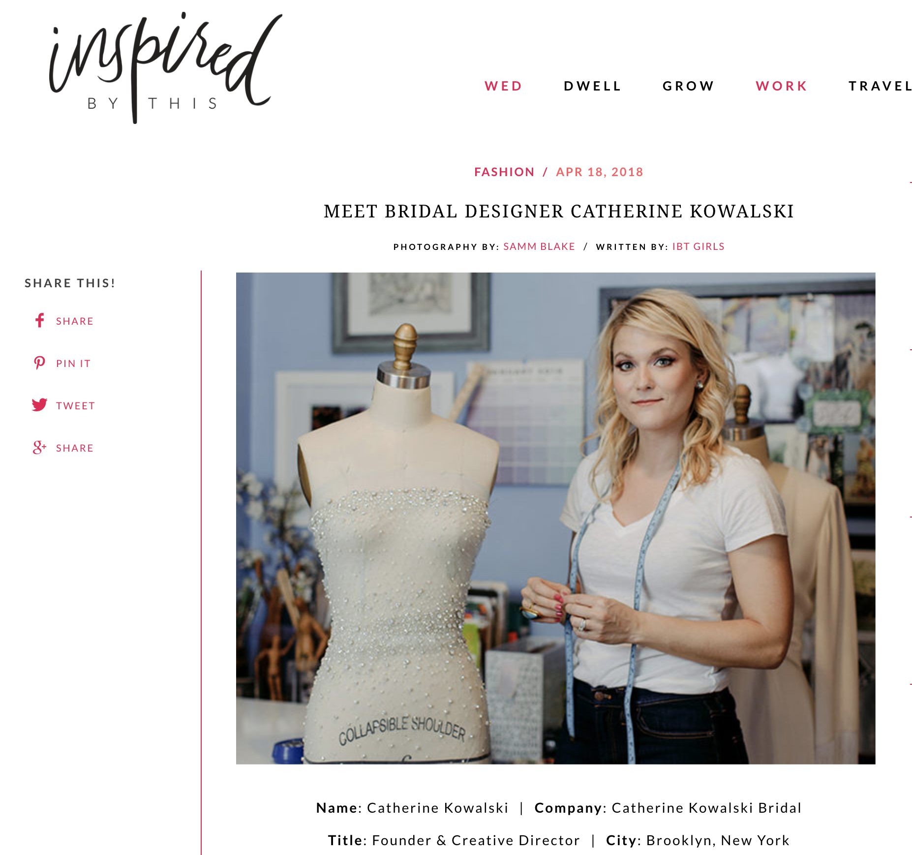 a66085e5b160a Inspired By This - Meet the Designer | ckbridal