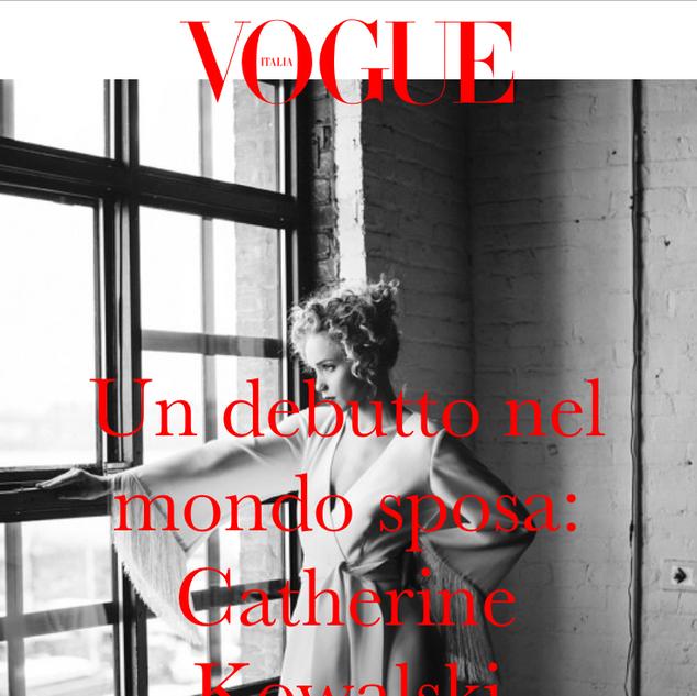 Vogue Italia - Un debutto nel mondo sposa: Catherine Kowalski