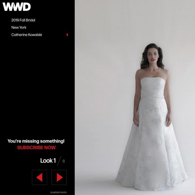 WWD: Runway Report NY 2019 Fall Bridal