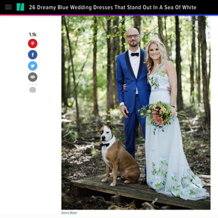 Huffington Post- 26 Dreamy Blue Wedding Dresses That Stand Out In a Sea of White