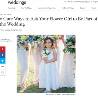 Martha Stewart Weddings: 6 Cute Ways to Ask Your Flower Girl to Be Part of the Wedding