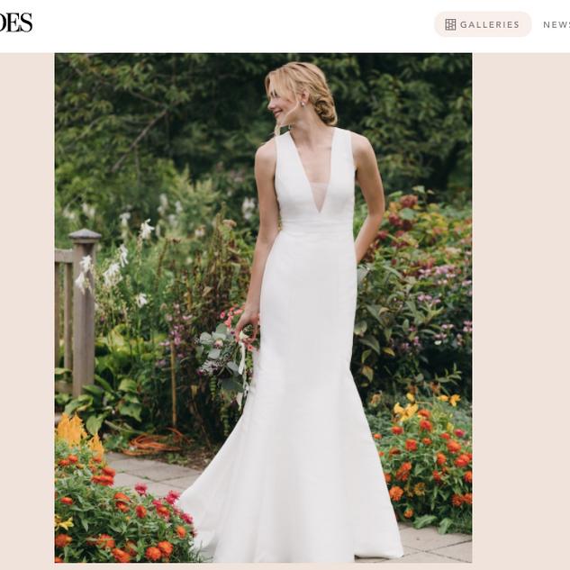Brides: 67 Simple Wedding Dresses For the Minimalist Bride