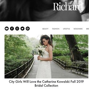 Richard Magazine: City Girls Will Love the Catherine Kowalski Fall 2019 Bridal Collection