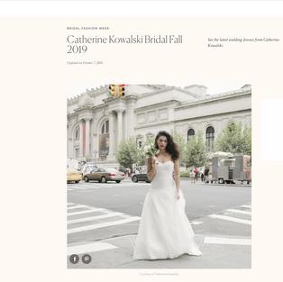 Brides: Catherine Kowalski Bridal Fall 2019