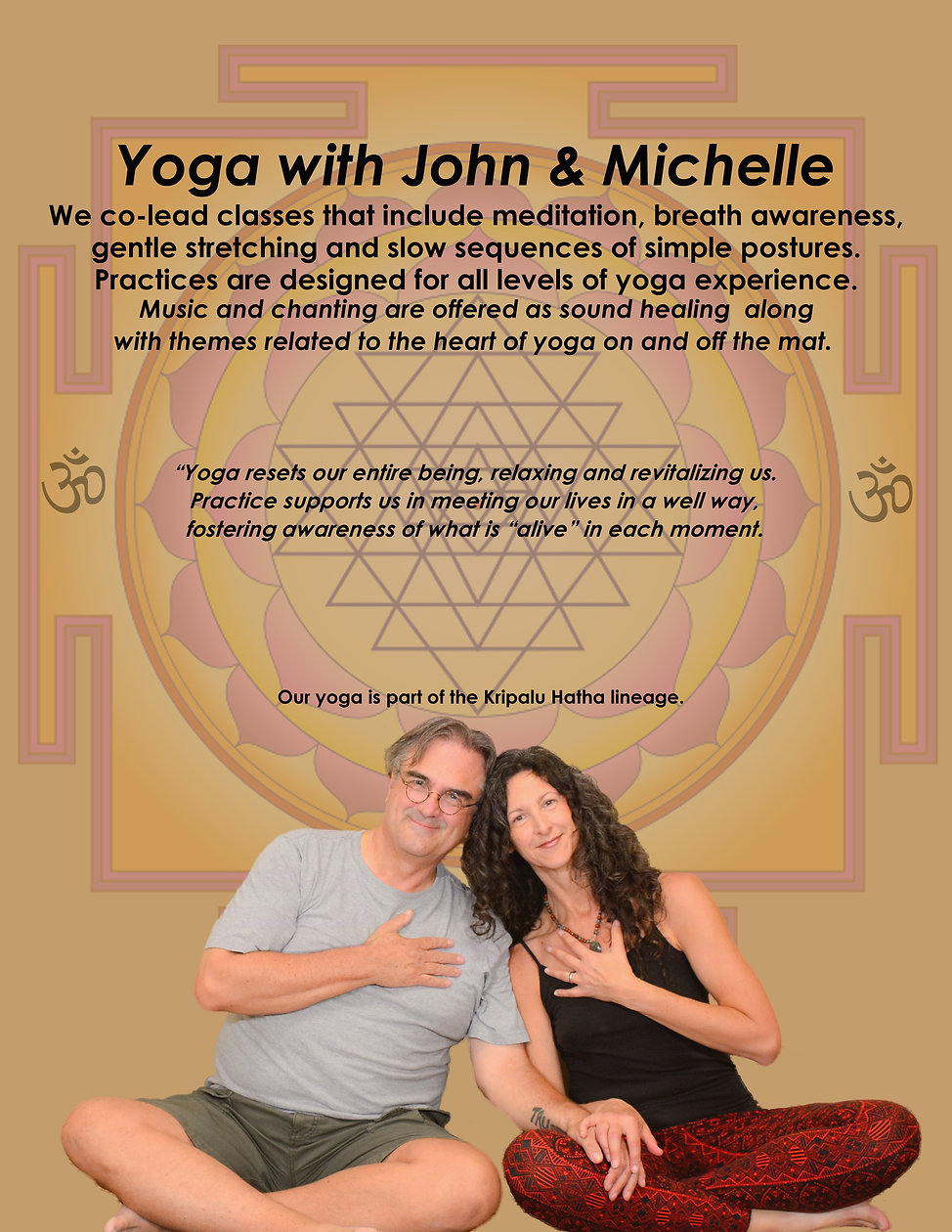 Yoga with John and Michelle Poster new s