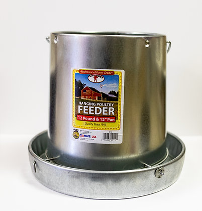 Galvanized Little Giant Hanging Poultry Feeder