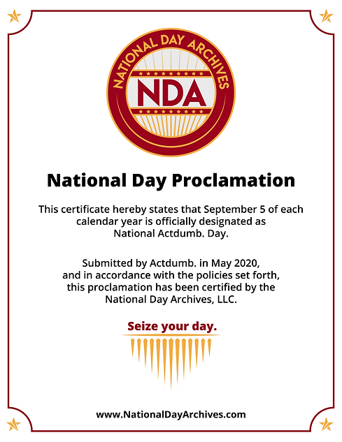 National Actdumb. Day Certificate.png