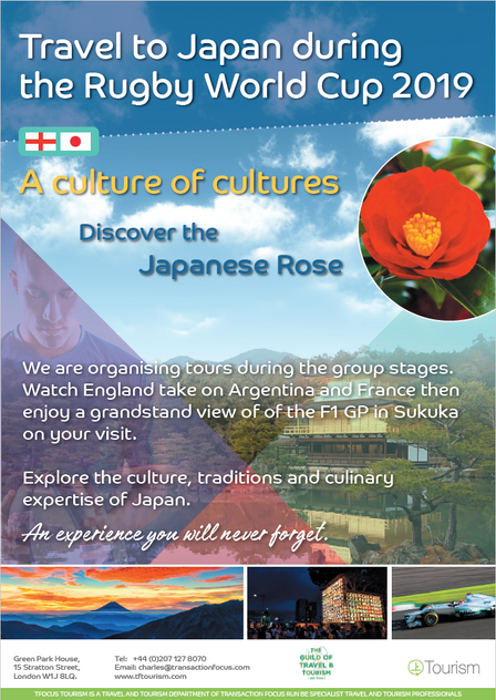 Travel to Japan for The Rugby World Cup 2019!