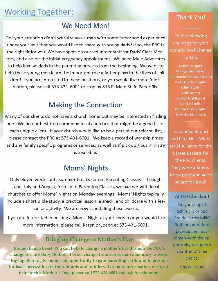 Spring 2016 Newsletter