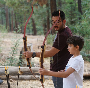 science camp archery instruction