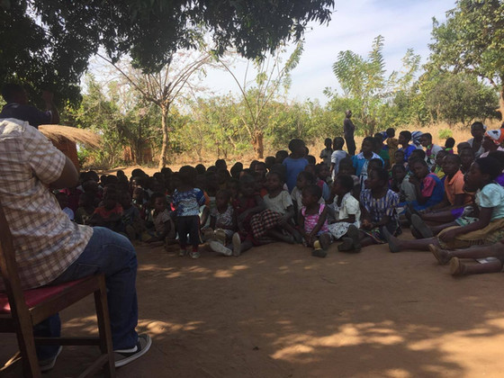 Running Camp-in-a-Bag in Malawi Africa.
