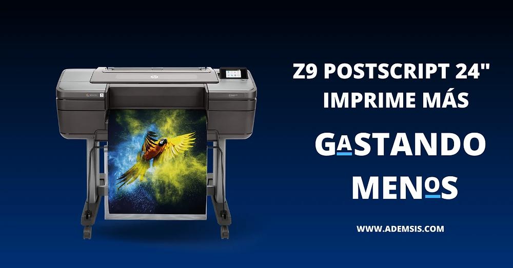 """Hp Designjet Z9 24"""" Postscript imprime más gastando menos"""