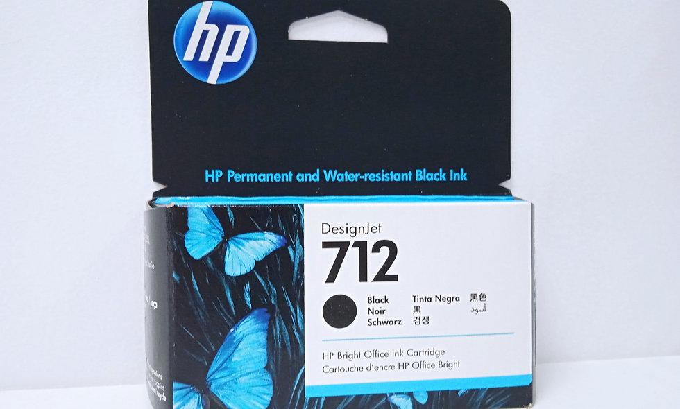 vista frontal de cartuchos de tinta Hp DesignJet 712 black