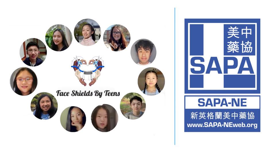 Face Shields By Teens (Sponsored by SAPA-NE)