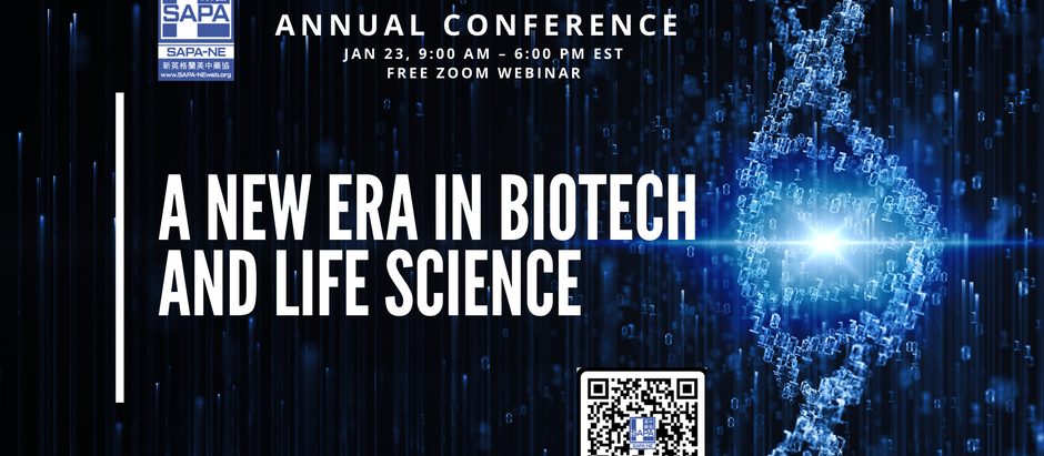 2021-01-23 SAPA-NE 22nd Annual Conference: A New Era in Biotech and Life Science