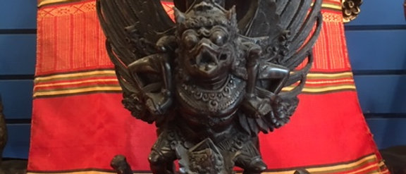 Antique Balinese Rama Riding Garuda