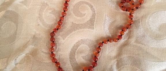Carnelian Mala 108 Beads knotted