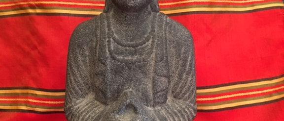 "10"" Stone Buddha"
