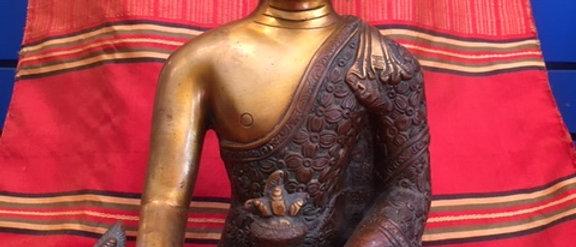 "11"" Brass Buddha"