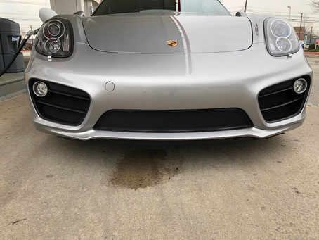 Porsche Cayman 981 Full Frontal.....radiator grill treatment that is!