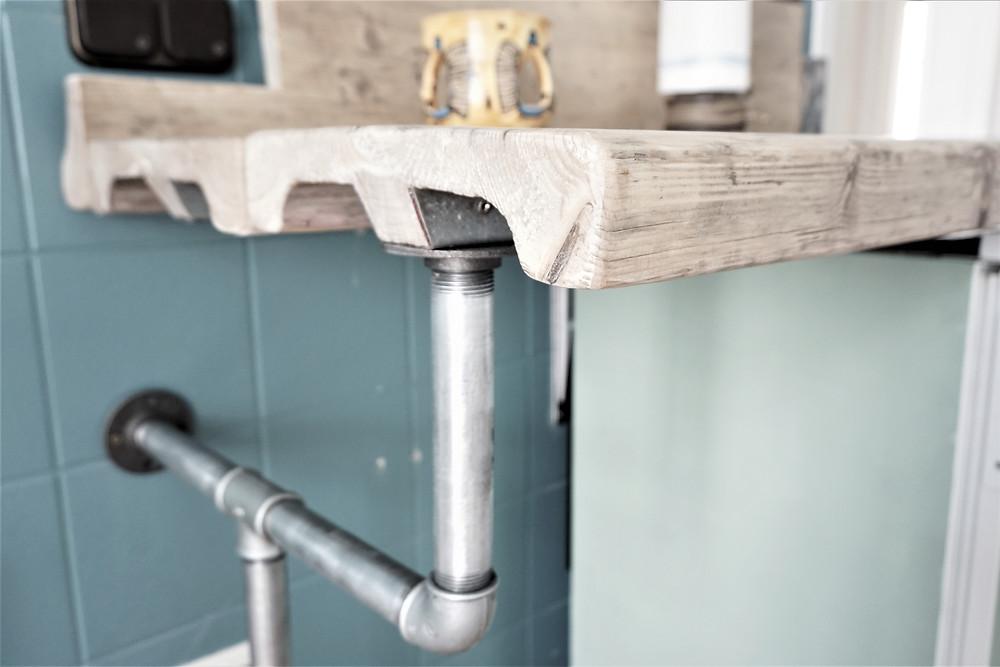 Küchenarbeitsplatte aus Gerüstbohlen | Foto: Dany Lahoud 2018