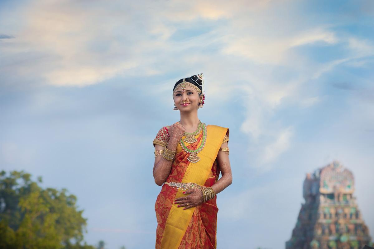 tamilnadu bridal portraits