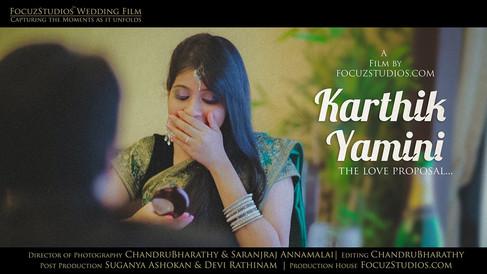 Best Love Proposal in Tamil -by FocuzStudios.com   KARTHIK & YAMINI