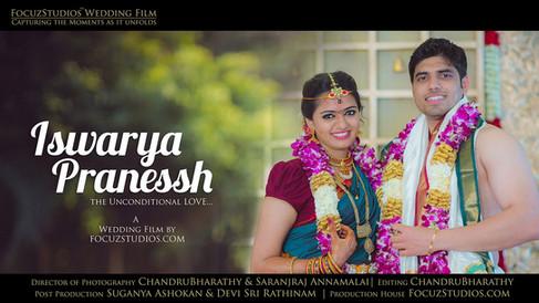 "Wedding Film of Sun TV ""Iswarya"" with ""Pranessh"" by FocuzStudios.com [HD]"