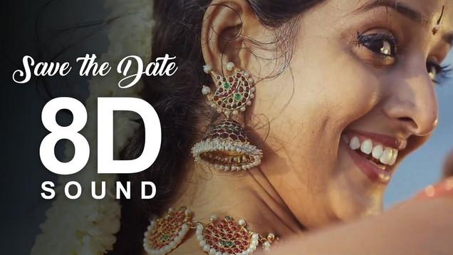 Save The Date | Sujaritha & Siddharth | Asainthadum Mayil - Classical Dance | 8D Sound