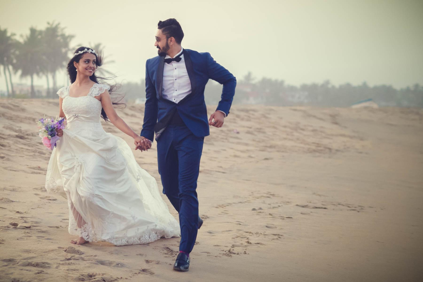 pre wedding shoot ECR beach