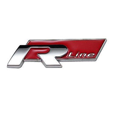 Emblema R-Line (lateral ) Vermelho