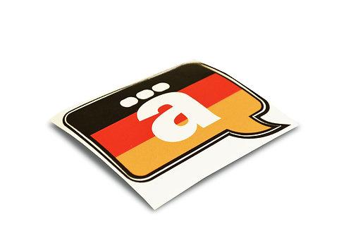 Adesivo German Talk