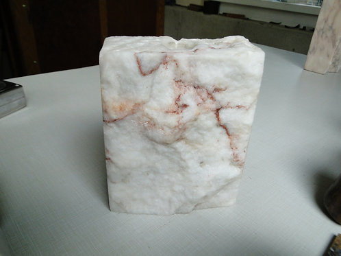 White & Brown Vermont Marble