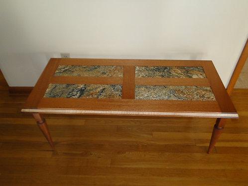 Sipo Mahogany & Granite Coffee Table