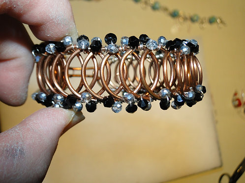 Beaded Copper Bracelet